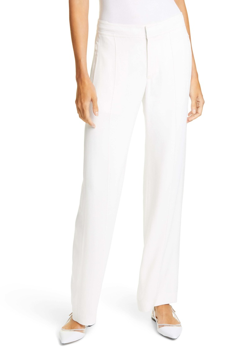 Club Monaco Fluid Pintuck Crepe Trousers