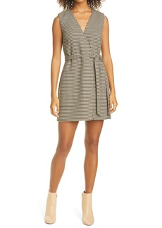 Club Monaco Herringbone Pattern Faux Wrap Dress