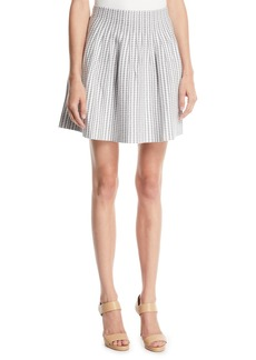 Club Monaco Himanah Geo-Print Pleated Short Skirt