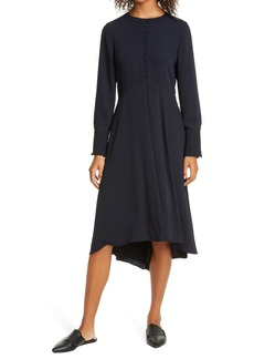 Club Monaco Long Sleeve High/Low Dress