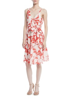 Club Monaco Nahala Sleeveless Floral-Print Dress