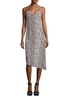 Club Monaco Paz Sleeveless V-Neck Slim Printed Midi Dress