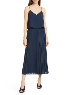 Club Monaco Pleated Crop Wide Leg Jumpsuit