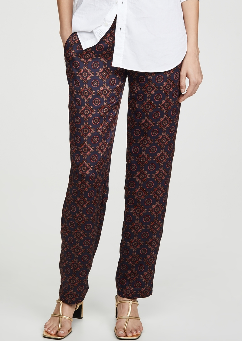 Club Monaco Printed Twill Pull On Pants