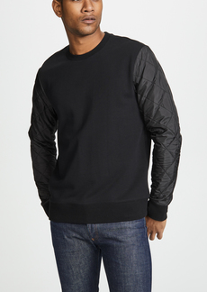 Club Monaco Quilted Sleeve Pull Over