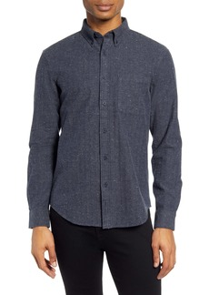 Club Monaco Slim Fit Donegal Herringbone Button-Down Shirt