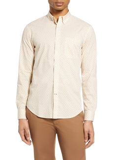 Club Monaco Slim Fit Honeycomb Print Button-Down Shirt