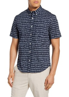 Club Monaco Slim Fit Short Sleeve Button-Down Shirt