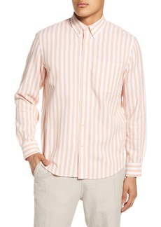 Club Monaco Slim Fit Waffle Stripe Button-Down Shirt