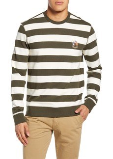 Club Monaco Slim Fit Wide Stripe Sweatshirt