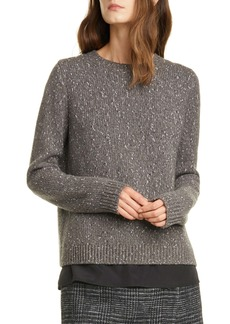 Club Monaco Split Back Layered Sweater