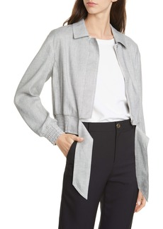 Club Monaco Tie Waist Linen Blend Jacket