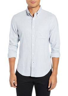 Club Monaco Trim Fit Houndstooth Flannel Sport Shirt