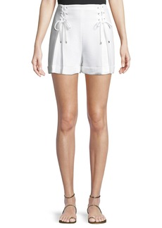 Club Monaco Ditmas Lace-Up Cuffed Shorts
