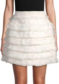 Club Monaco Fidelma Feather Mini Skirt