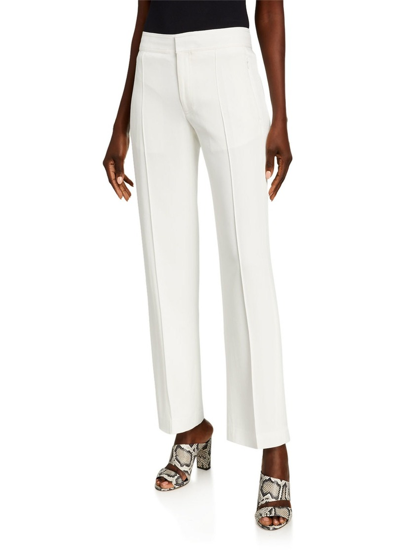 Club Monaco Fluid Crepe Straight-Leg Trousers