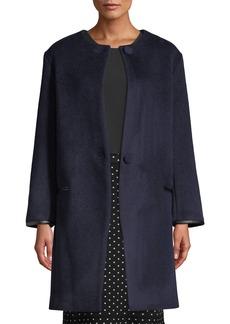 Club Monaco Gabita Collarless Two-Button Wool Coat