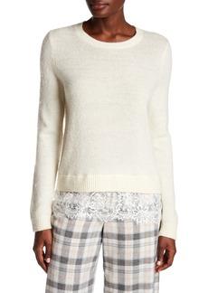 Club Monaco Jessarey Wool Blend Lace Hem Sweater