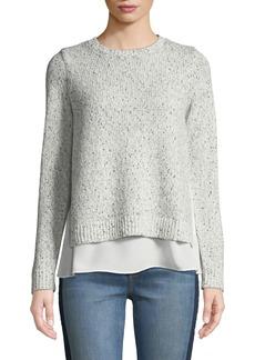 Club Monaco Kaelane Mixed Media Pullover Sweater