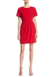 Club Monaco Lynndalyn Pleated Short-Sleeve Mini Dress