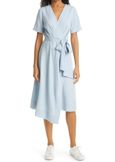Petite Women's Club Monaco Asymmetrical Faux Wrap Dress