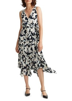 Club Monaco Printed Faux-Wrap Dress
