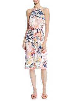 Club Monaco Scharpettah Floral-Print Halter Dress