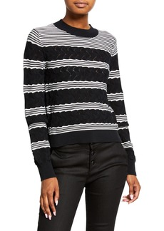 Club Monaco Striped Crewneck Sweater