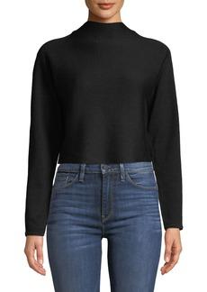 Club Monaco Vinchenda Mock-Neck Cropped Sweater