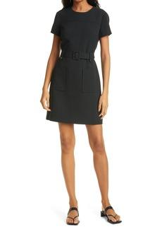 Women's Club Monaco Belted Pocket Minidress