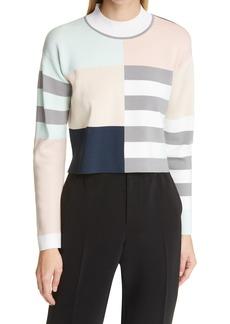 Women's Club Monaco Colorblock Crop Sweater