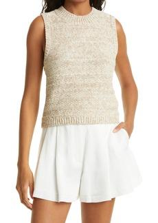 Women's Club Monaco Texture Mix Cotton Blend Knit Tank
