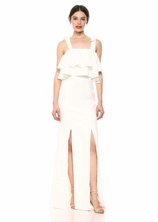C/Meo Collective Women's Be About You Sleeveless Ruffle Long Gown Dress w Slit  xs