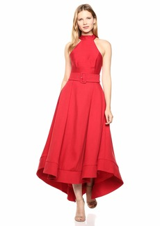C/Meo Collective Women's Confirmative Halter High Low Fit and Flare Party Dress  l