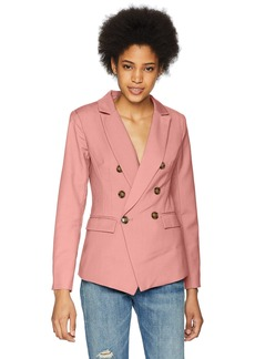 C/MEO COLLECTIVE Women's Double Breasted Blazer with Front Pockets and Button Detail  S