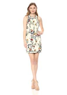 C/Meo Collective Women's ENTITLE Short Sleeve Mini Shift Dress  L