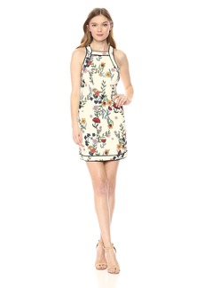 C/Meo Collective Women's Entitle Short Sleeve Mini Shift Dress  M