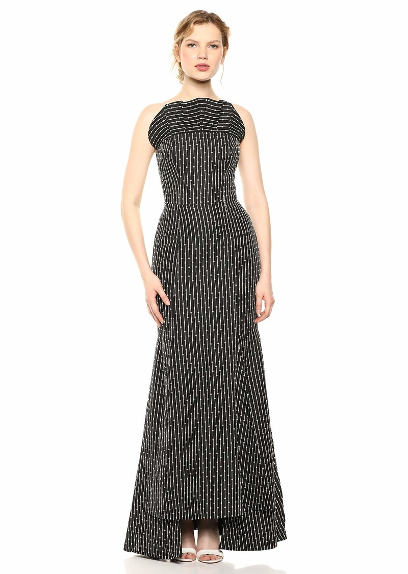 C/Meo Collective Women's Even Love Embroidered Strapless Fitted Long Dress  l