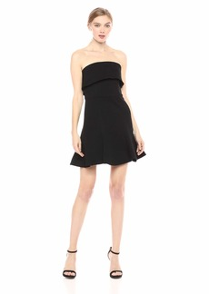 C/Meo Collective Women's FLUIDITY Strapless FIT & Flare Short Mini Dress  M
