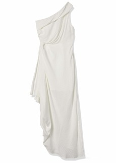 C/Meo Collective Women's Go On Sleeveless One Shoulder Maxi Dress with Ruffle  S