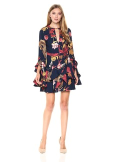 C/Meo Collective Women's Gossamer Floral Print Long Sleeve Dress
