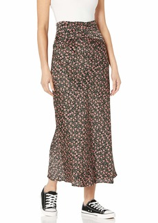 C/MEO COLLECTIVE Women's Knowing of This A-line Midi Skirt  L