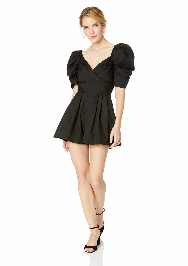 C/Meo Collective Women's Lift ME Off The Shoulder Puff Sleeve Romper  S