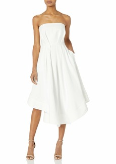 C/Meo Collective Women's Making Waves Strapless HIGH Low FIT & Flare PATY Dress  S