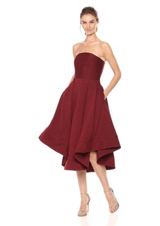 C/Meo Collective Women's Making Waves Strapless High Low Fit and Flare Party Dress  XL