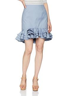 C/MEO COLLECTIVE Women's Petition Ruffle Hem Mini Skirt  XL
