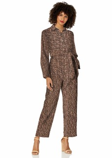 C/Meo Collective Women's Reiterate Long Sleeve Utility Style Casual Jumpsuit  L