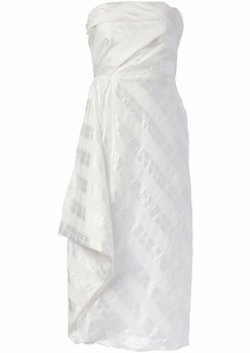 C/Meo Collective Women's Same Things Strapless Midi Dress with Ruffle  L