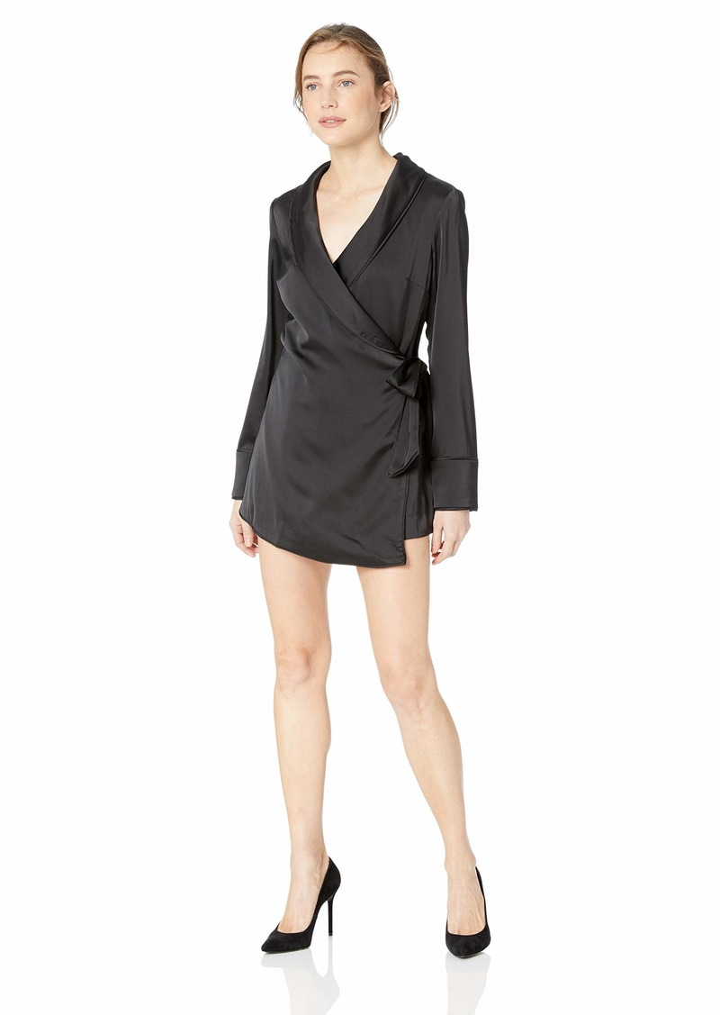 C/Meo Collective Women's Simple Things Long Sleeve Wrap Front Romper  M