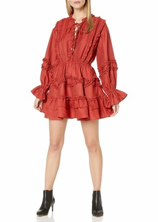 C/Meo Collective Women's Slow Down Lace Up Fit & Flare Short Dress